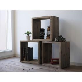 【SALE】wood BOX 〈古材〉4個セット(棚 ラック シェルフ 鉄 木 収納棚 アンティーク ビンテージ インダストリアル マガジンラック 本棚 ウッドボックス 収納ボックス