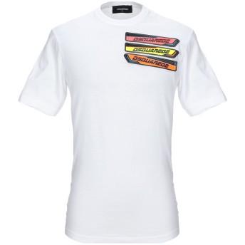 《セール開催中》DSQUARED2 メンズ T シャツ ホワイト S コットン 100%