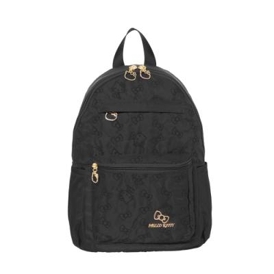 Hello Kitty凱蒂貓 快意之旅 後背包 中 黑 KT01R02BK