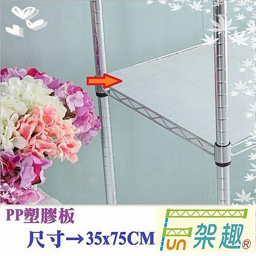 【Fun架趣】層架專用配件--35x75cm網片專用PP塑膠板【波浪架 鐵力士架專用/波浪層架/組合家具】