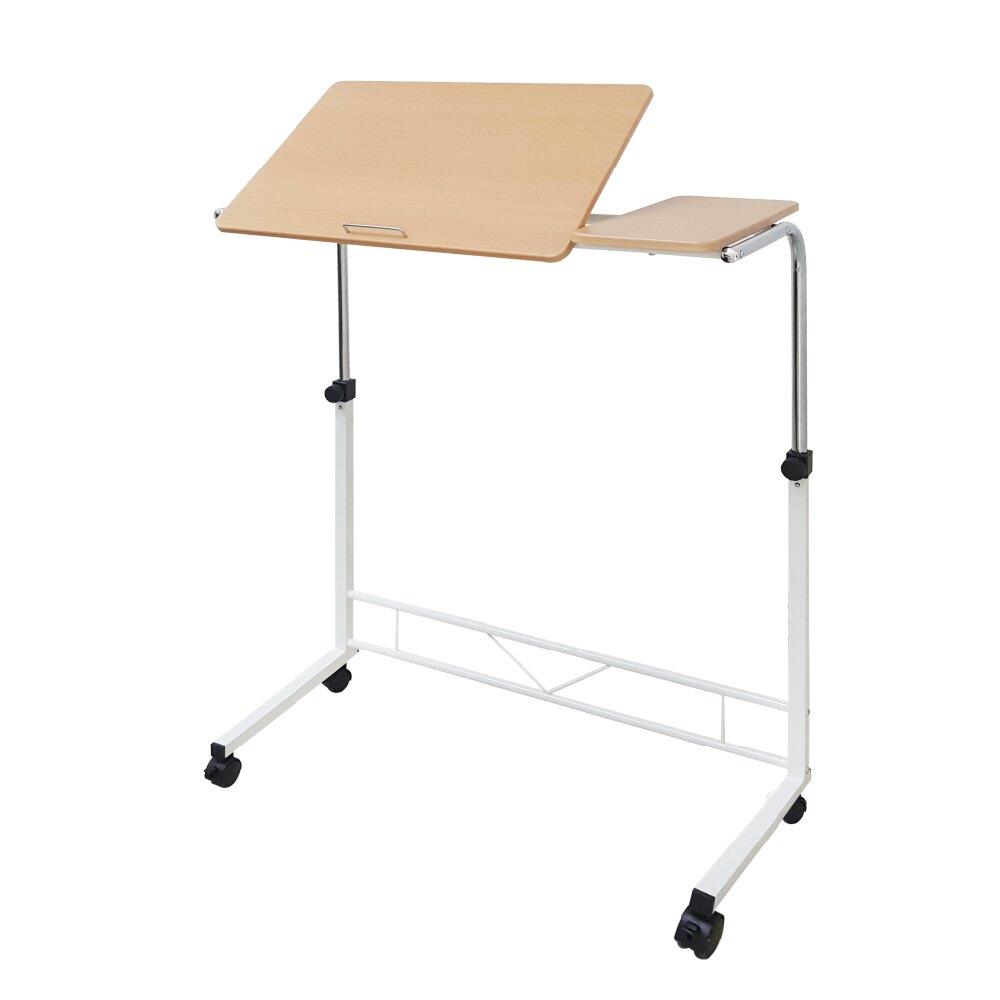 邊桌/電腦桌/升降桌 雙桌面懶人桌-兩色可選 (原木色/胡桃木色) 1011居家生活館《SCY-2028》