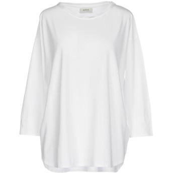 《セール開催中》ALPHA STUDIO レディース T シャツ ホワイト 46 コットン 100%