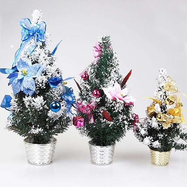 聖誕節 聖誕樹 耶誕樹 迷你聖誕樹(30cm) 雪花樹 聖誕樹盆 交換禮物 辦公室專屬 配件齊全【塔克】