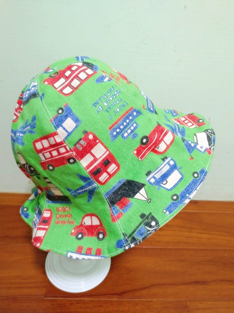 交通工具大集合嬰兒帽 雙面帽 花朵帽 寶寶帽 漁夫帽遮陽帽彌月禮