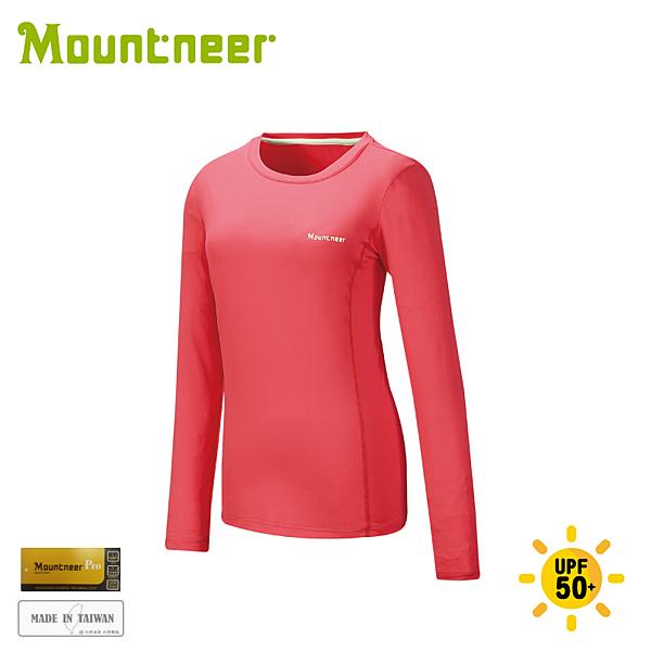 【Mountneer 山林 女 透氣排汗長袖上衣《深玫紅》】21P26/排汗衣/運動上衣/運動T恤/休閒衫