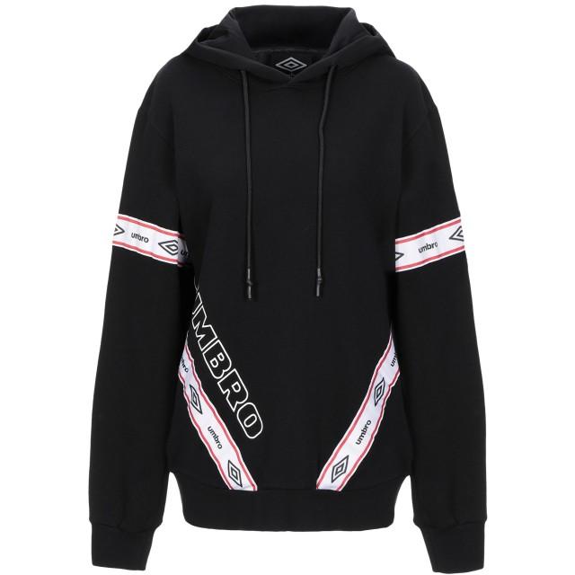 《セール開催中》UMBRO レディース スウェットシャツ ブラック XL コットン 100%