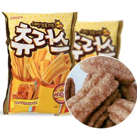 韓國 CROWN 西班牙 蜂蜜肉桂 吉拿棒餅乾 84g/包 吉拿棒 點心棒