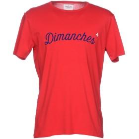 《セール開催中》COMMUNE DE PARIS 1871 + DIMANCHES メンズ T シャツ レッド S 指定外繊維(紙) 100%