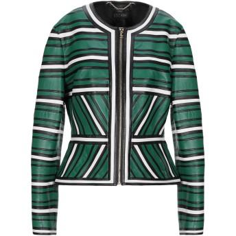 《セール開催中》ESCADA レディース テーラードジャケット グリーン 40 羊革(ラムスキン)