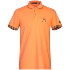 《セール開催中》DIMATTIA メンズ ポロシャツ オレンジ S 95% コットン 5% ポリウレタン