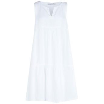 《セール開催中》EUROPEAN CULTURE レディース ミニワンピース&ドレス ホワイト XS テンセル 72% / 麻 18% / コットン 10%