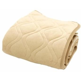 メリーナイト 敷きパッド ベージュ S・SL兼用サイズ あったか敷きパッド 綿ベロア 無地カラー S