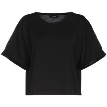 《セール開催中》THEORY レディース T シャツ ブラック M ピマコットン 100%