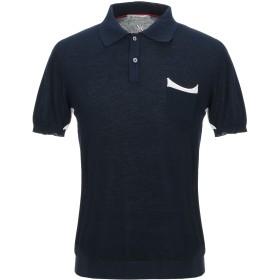 《セール開催中》MANUEL RITZ メンズ ポロシャツ ダークブルー S コットン 100%