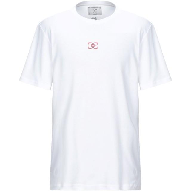 《セール開催中》LES BENJAMINS メンズ T シャツ ホワイト S コットン 100%