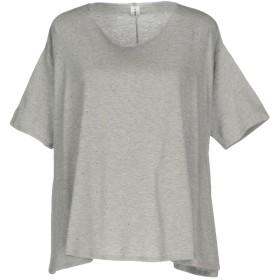 《セール開催中》ISABELLA CLEMENTINI レディース T シャツ グレー 44 コットン 100%