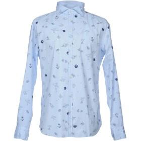 《セール開催中》HAMAKI-HO メンズ シャツ スカイブルー XL コットン 97% / ポリウレタン 3%