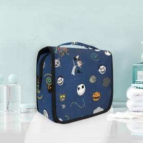 面白いシュガースカルぶら下げ折りたたみトイレタリー化粧品化粧バッグ旅行キットオーガナイザー収納ウォッシュバッグケース用女性女の子浴室