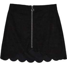 《セール開催中》VANESSA SCOTT レディース ミニスカート ブラック L ポリエステル 95% / ポリウレタン 5%