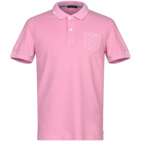 《セール開催中》DIMATTIA メンズ ポロシャツ ピンク S コットン 95% / ポリウレタン 5%