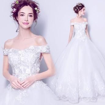 レースドレス ウェディングドレス 編み上げタイプ ウェディングドレス オフショルダードレス 締上げタイプ ウェディングドレス 結婚式 お