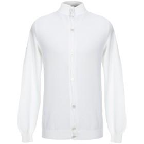 《セール開催中》FEDELI メンズ カーディガン ホワイト 52 コットン 100%