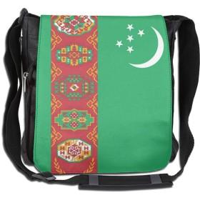 ショルダーバッグ リュックトルクメニスタン国旗 斜めがけバッグ 2way デイバック ボディーバッグ 大容量 パック 通勤 旅行 軽量 One Size Black