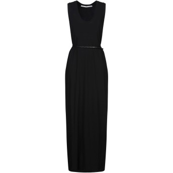 《セール開催中》ISABEL BENENATO レディース ロングワンピース&ドレス ブラック 40 コットン 100%