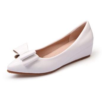 [イノヤシューズ] ポインテッドトゥ パンプス 痛くない 黒 ローヒール 結婚式 大きいサイズ 歩きやすい レディース ポインテッド ヒール フォーマル スエード パンプス レディース 靴 ホワイト パーティー お呼ばれ パーティ 22.0cm 秋冬