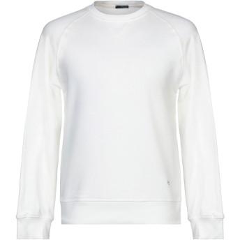 《セール開催中》(+) PEOPLE メンズ スウェットシャツ アイボリー L コットン 100%