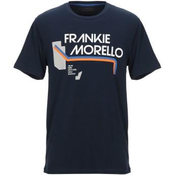《セール開催中》FRANKIE MORELLO メンズ T シャツ ダークブルー S コットン 95% / ポリウレタン 5%