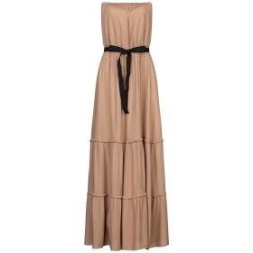 《セール開催中》VICOLO レディース ロングワンピース&ドレス ベージュ one size レーヨン 100%