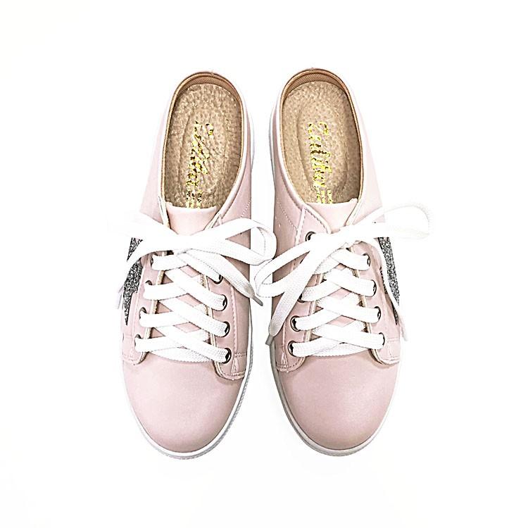 【ZULIBA】星星真皮休閒穆勒鞋(23~25)-粉