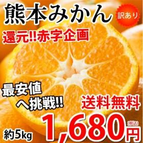 みかん 5kg 送料無料 訳あり 箱込(内容量4kg+補償分500g) 熊本みかん 送料無料 蜜柑 ミカン