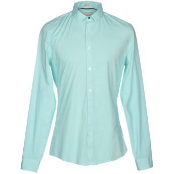 《セール開催中》GUESS メンズ シャツ ライトグリーン M コットン 97% / ポリウレタン 3%
