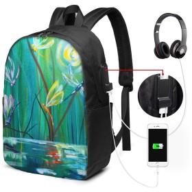 油彩 トンボ 17インチ USB充電ポート付き 季節新品 通学 通勤 出張 旅行 多機能 メンズ レディース 大容量 黒 アウトドアリュック 登山リュック 調節可能なショルダーストラップ