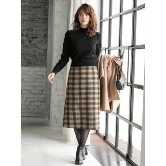 【fifth/フィフス】バックスリットチェックタイトスカート