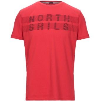 《セール開催中》NORTH SAILS メンズ T シャツ レッド L コットン 50% / ポリエステル 50%