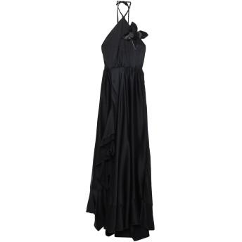 《セール開催中》CRISTINAEFFE レディース ロングワンピース&ドレス ブラック 38 レーヨン 100%
