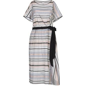 《セール開催中》ANTIPAST レディース 7分丈ワンピース・ドレス ベージュ II コットン 67% / シルク 33% / ポリエステル