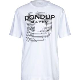 《セール開催中》DONDUP メンズ T シャツ ホワイト XXL コットン 100%