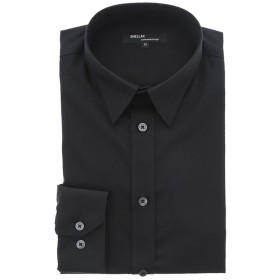 タカキュー シェラック/SHELLAC 形態安定スリムフィット レギュラーカラー長袖シャツ メンズ ブラック M 【TAKA-Q】