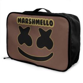 Marshmello 大容量 荷物袋 カジュアル 軽量 スーツケース 旅行荷物収納レバー掛包 ポータブルバッグ