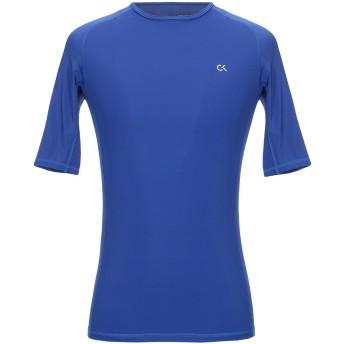 《セール開催中》CALVIN KLEIN PERFORMANCE メンズ T シャツ ブルー M ナイロン 86% / ポリウレタン 14%