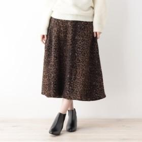 [マルイ]【セール】レオパードAラインスカート/グローブ(grove)