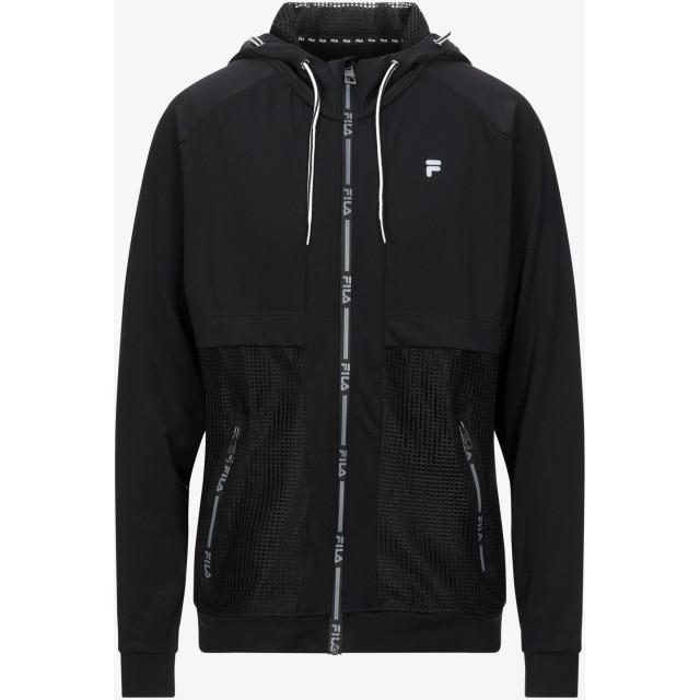 《セール開催中》FILA メンズ スウェットシャツ ブラック XL ポリエステル 88% / ポリウレタン 12%