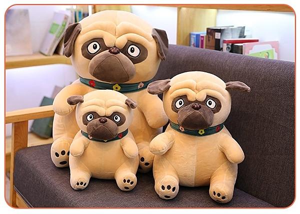 【25公分】沙皮狗娃娃 小狗玩偶 網紅公仔 聖誕節交換禮物 生日禮物 兒童節禮物 餐廳布置設計