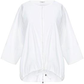 《セール開催中》PESERICO レディース シャツ ホワイト 42 コットン 79% / ナイロン 17% / ポリウレタン 4%