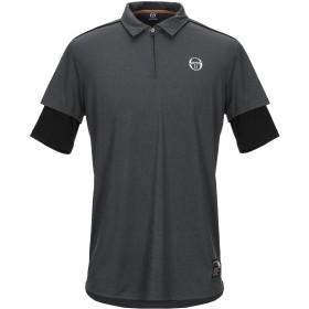 《セール開催中》SERGIO TACCHINI メンズ ポロシャツ 鉛色 L ポリエステル 90% / ポリウレタン 10%