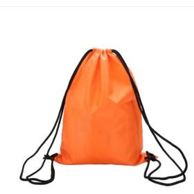 Men club スクールドローストリングブックバッグスポーツジムスイムPEダンスシューズバックパックオレンジクリエイティブで便利